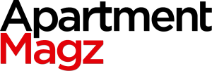 Apartment Magz black and red logo