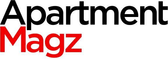 A black and red image of the Apartment Magz logo.